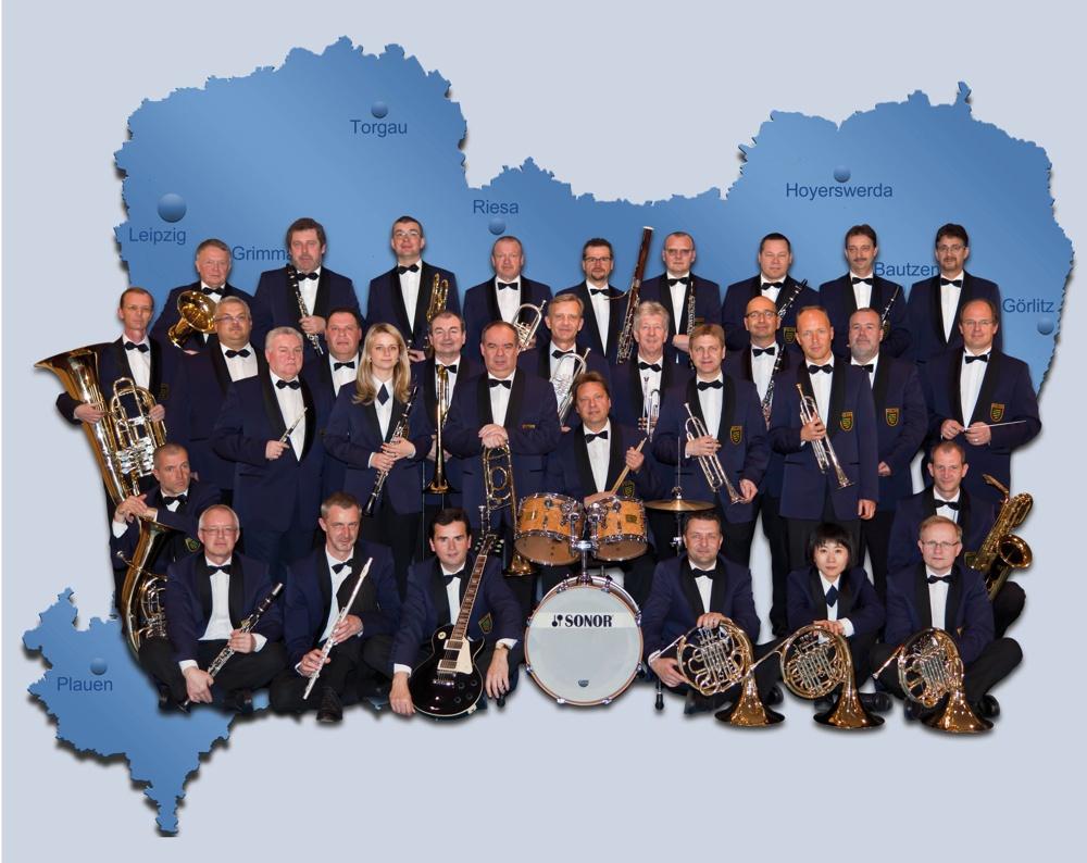 open air Konzert des Polizeiorchesters Sachsen